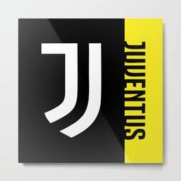 JUVENTUS Stripe Metal Print