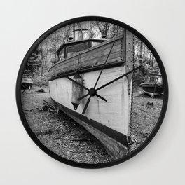 Abandoned Fishing Boats Wall Clock
