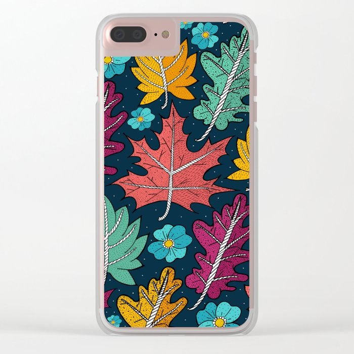 Last leaves of autumn Clear iPhone Case