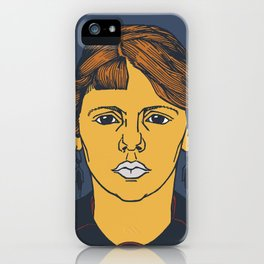 Vintage Woman Portrait Illustration iPhone Case