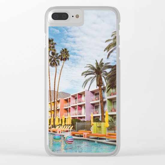 Palm Springs Pool Day VII Clear iPhone Case