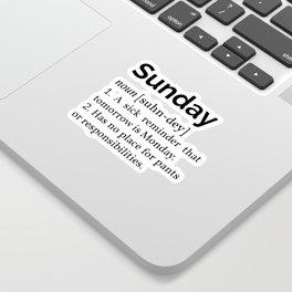 Sunday Definition I Sticker