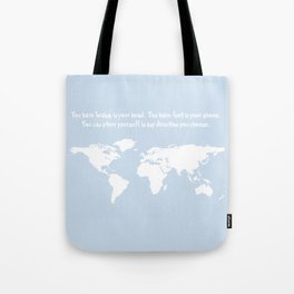Dr. Seuss inspirational quote with earth outline Tote Bag