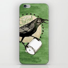 Crows Love CAW-FEE iPhone Skin