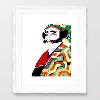 actor Framed Art Prints featuring Kabuki actor vector by John Weaver