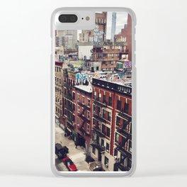 New York street views - Chinatown from Manhattan bridge Clear iPhone Case
