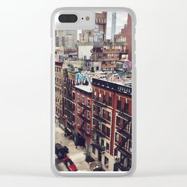 New York street views - Chinatown from Manhattan bridge Clear iPhone Case