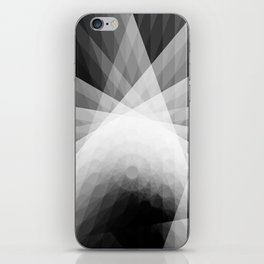 A Receptive Mind is Connected BLK/WHT iPhone Skin