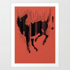 Riding a Dead Horse Art Print
