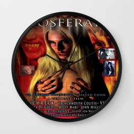 Nosferatu vs. Father Pipecock & Sister Funk (2014) -Movie Poster Wall Clock