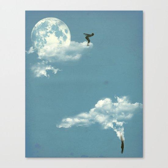 Skydivers Canvas Print