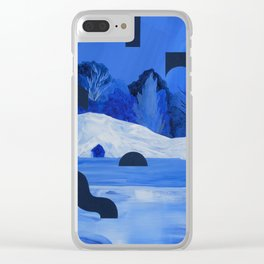 Twin Caves Clear iPhone Case