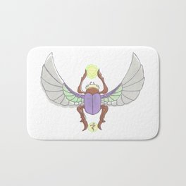 Purple/Green Scarab Bath Mat
