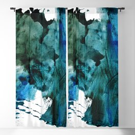 Scenic Route: a pretty, minimal abstract piece in blue and green by Alyssa Hamilton Art Blackout Curtain