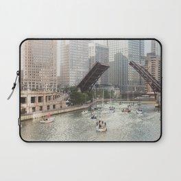 Chicago River, Bridges Up Laptop Sleeve