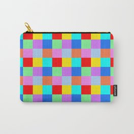Patchwork of many Colors Carry-All Pouch