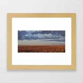 Morning Desert Clouds Framed Art Print
