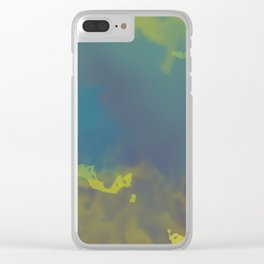 Multicolor Watercolor Clear iPhone Case