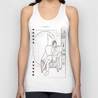 library Tank Tops featuring School Library by Louisa Venerandum