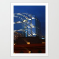 Evening in Seattle  Art Print