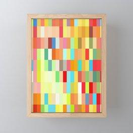 colorful rectangle grid Framed Mini Art Print