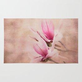 Pink Magnolia III - Flower Art Rug