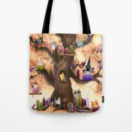 The library in the tree Tote Bag