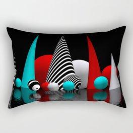 geometric horizon -5- Rectangular Pillow
