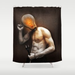 Glow Lamp Shower Curtain