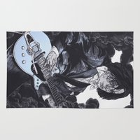 jack white Area & Throw Rugs featuring Jack White III by Andy Christofi