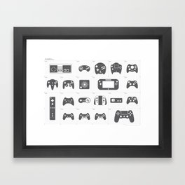 The Evolution of Video Game Controllers Framed Art Print