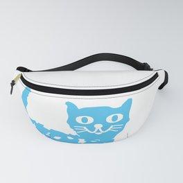 Blue cat Fanny Pack