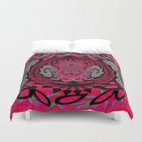 hip hop Duvet Covers featuring Feelin Hip Hop by Wired Circuit