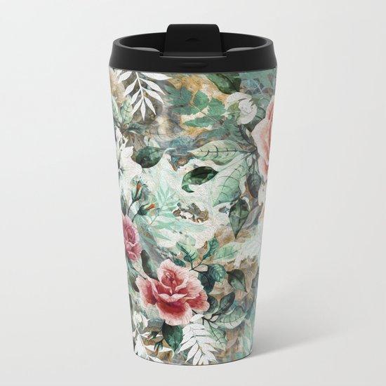 Rose Garden Metal Travel Mug
