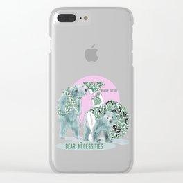 Bear Necessities #1a Bearly Secret Clear iPhone Case