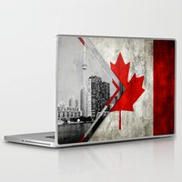 canada Laptop & iPad Skins featuring Flags - Canada by Ale Ibanez