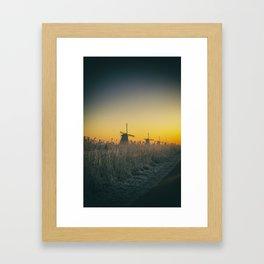 Sunrise at Kinderdijk III Framed Art Print