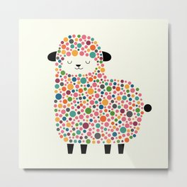Bubble Sheep Metal Print