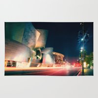 concert Area & Throw Rugs featuring Walt Disney Concert Hall by Enkel Dika