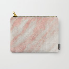 Desert Rose Gold Pink Marble Carry-All Pouch