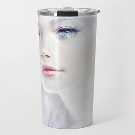 Ethereal - White as ice beatiful girl portrait Travel Mug