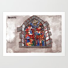 The church of sorrow: Bavois Art Print
