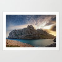 Maïre Island (Marseilles, France) Art Print