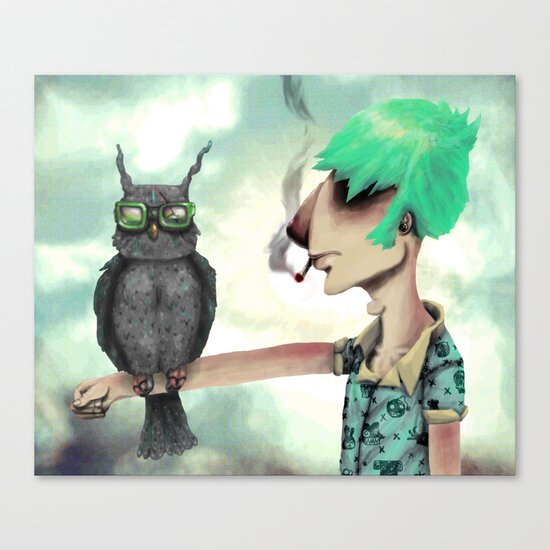 Punk N' A Bird Canvas Print