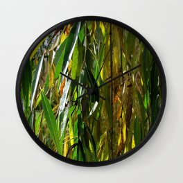 Weeping Willow in Autumn Wall Clock