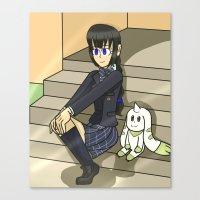digimon Canvas Prints featuring Digimon - Dear Friends by MinawaKittten