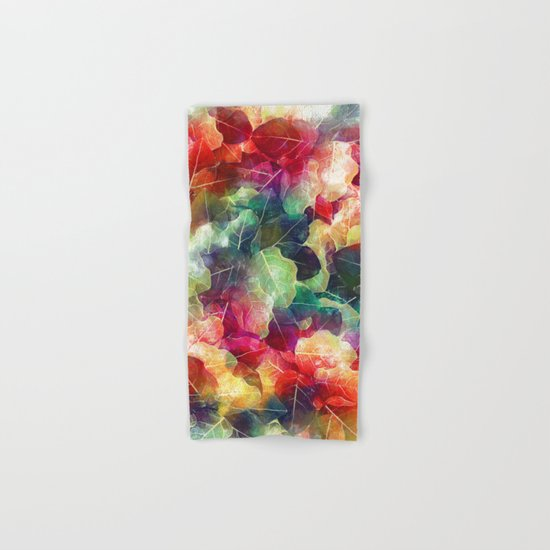 Multicolor Leaves Hand & Bath Towel