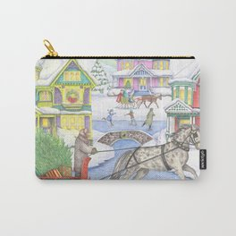 Christmas Victorian Village Carry-All Pouch