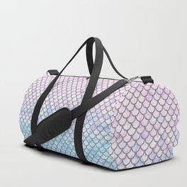 Pastel Mermaid Scales Pattern Duffle Bag