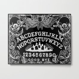 Ouija Board Black Metal Print